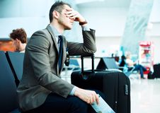 Delayed flight Royalty Free Stock Image