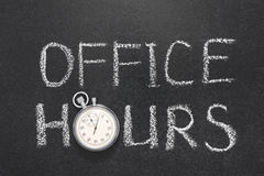 Office hours gr Stock Photography