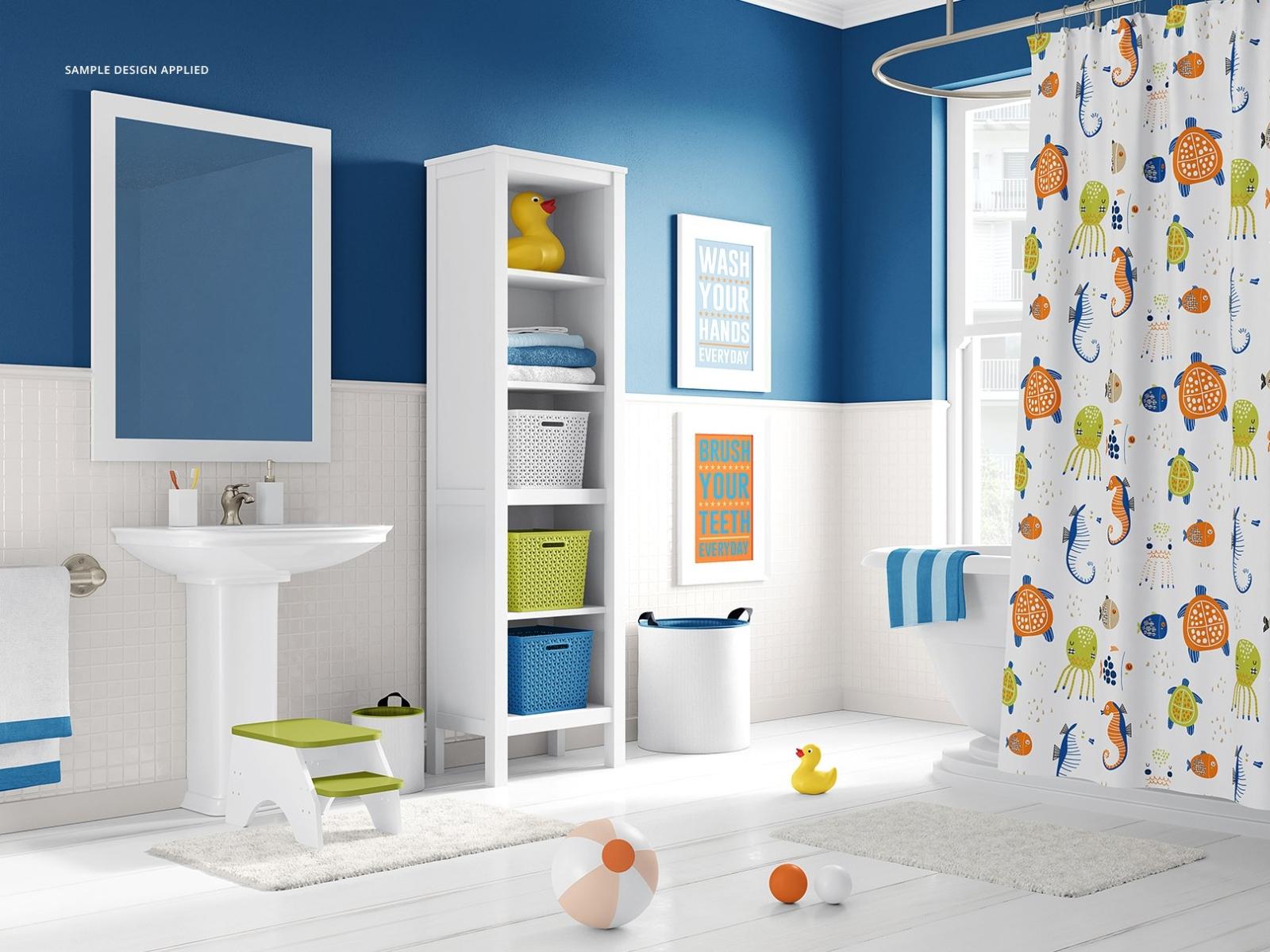 Kids Bathroom Mockup Set By Mockup5 On Dribbble
