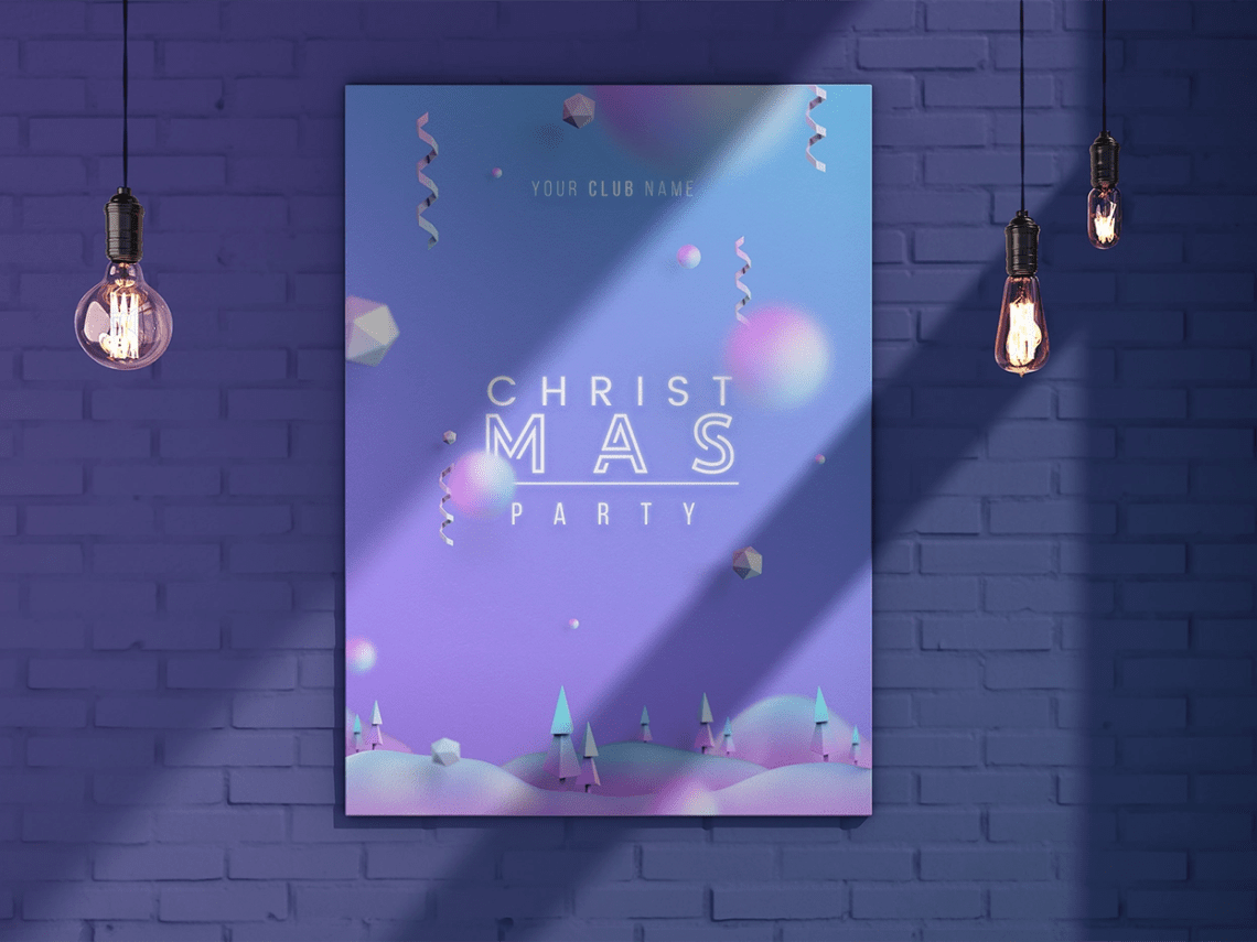 Download Free Christmas Card Mockup Psd Yellowimages