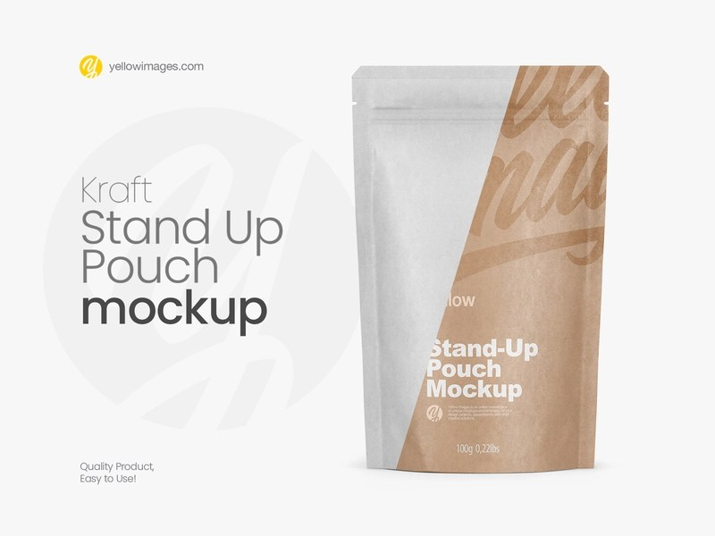 Download Pouch Packaging Psd Mockup Yellowimages