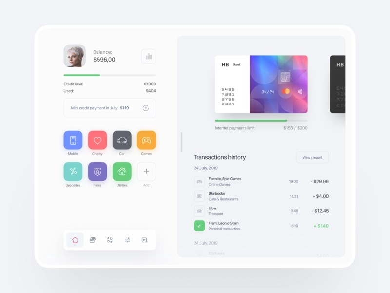 Credit Card Balance Designs Themes Templates And Downloadable Graphic Elements On Dribbble
