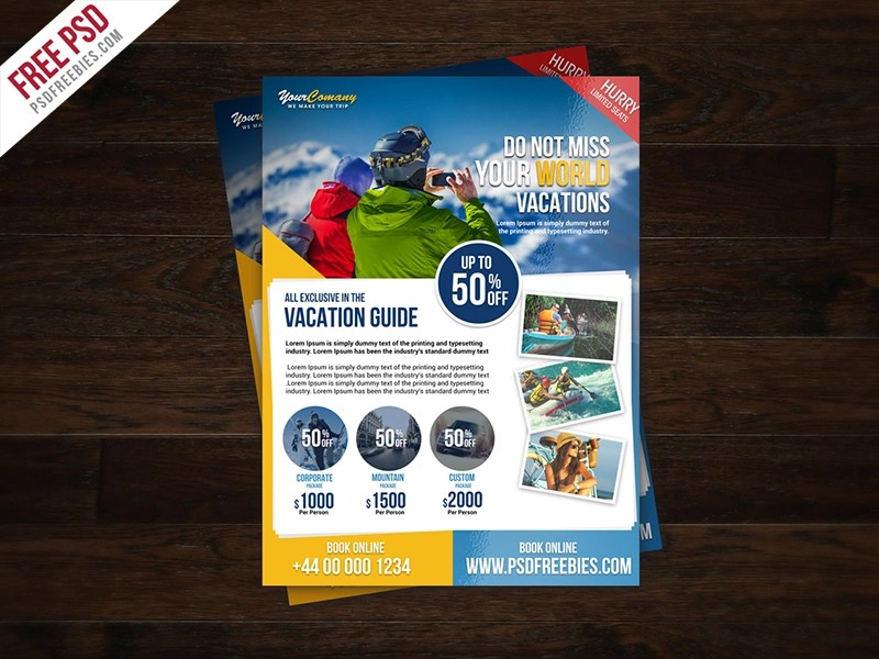 Freebie Travel Tour And Vacation Flyer Free Psd By Psd Freebies On Dribbble