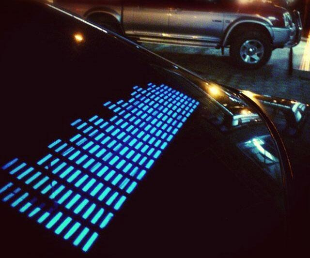 Sound Activated LED Car Sticker  DudeIWantThatcom