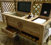 Rustic Patio Bar & Cooler