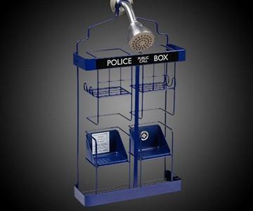 Doctor Who TARDIS Shower Rack  DudeIWantThatcom