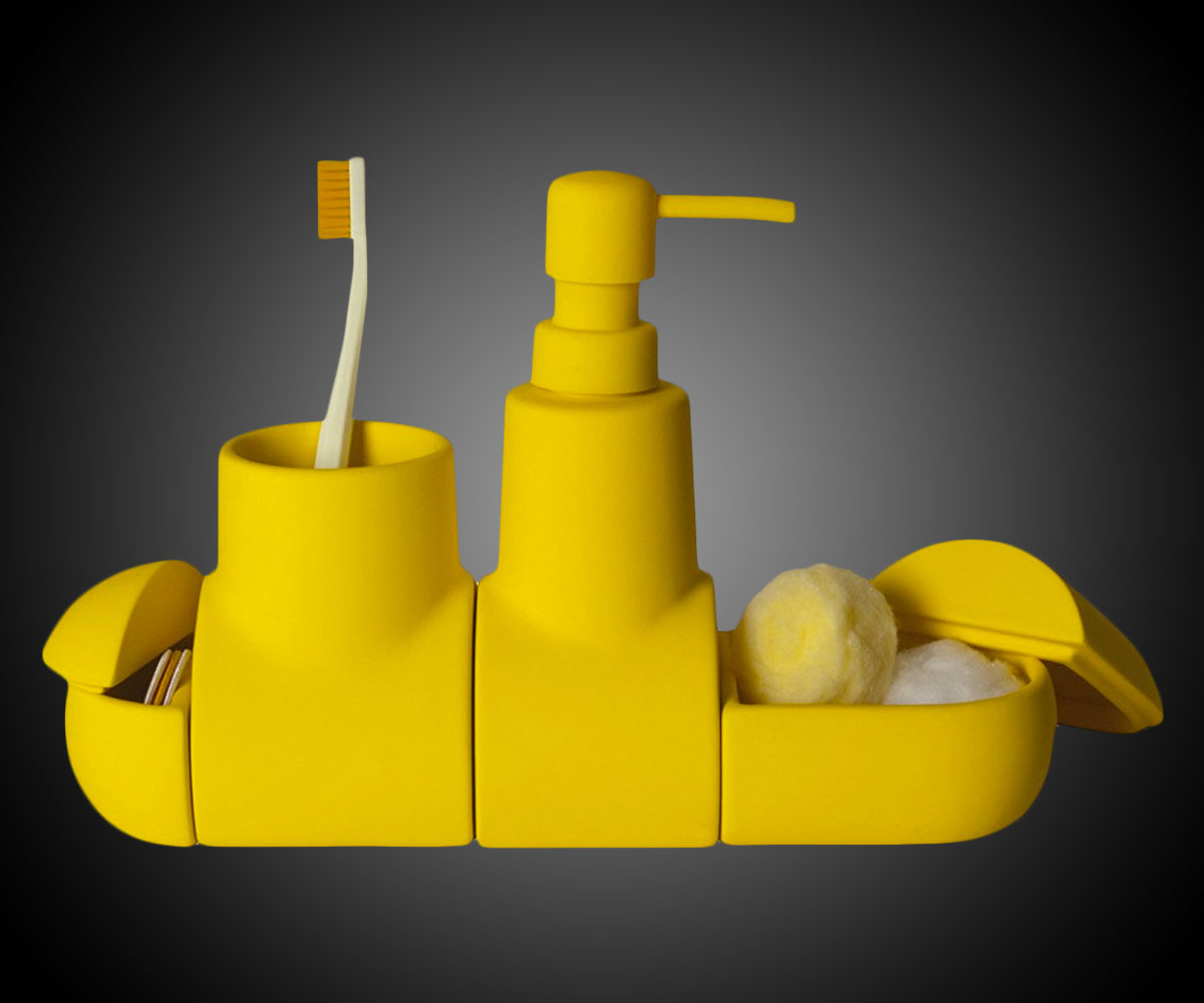 Yellow Submarine Bathroom Accessory Set  DudeIWantThatcom