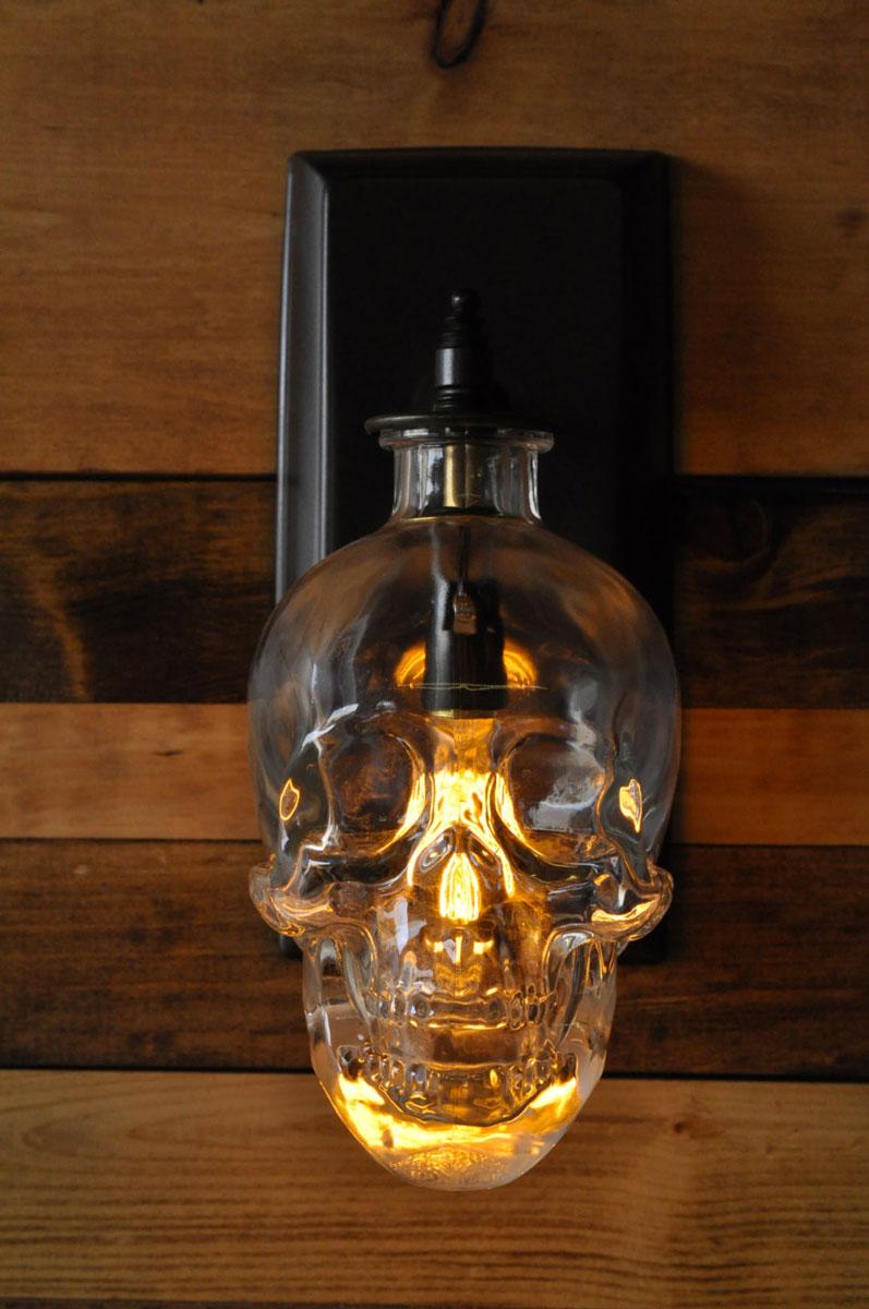 Crystal Head Vodka Skull Wall Sconce