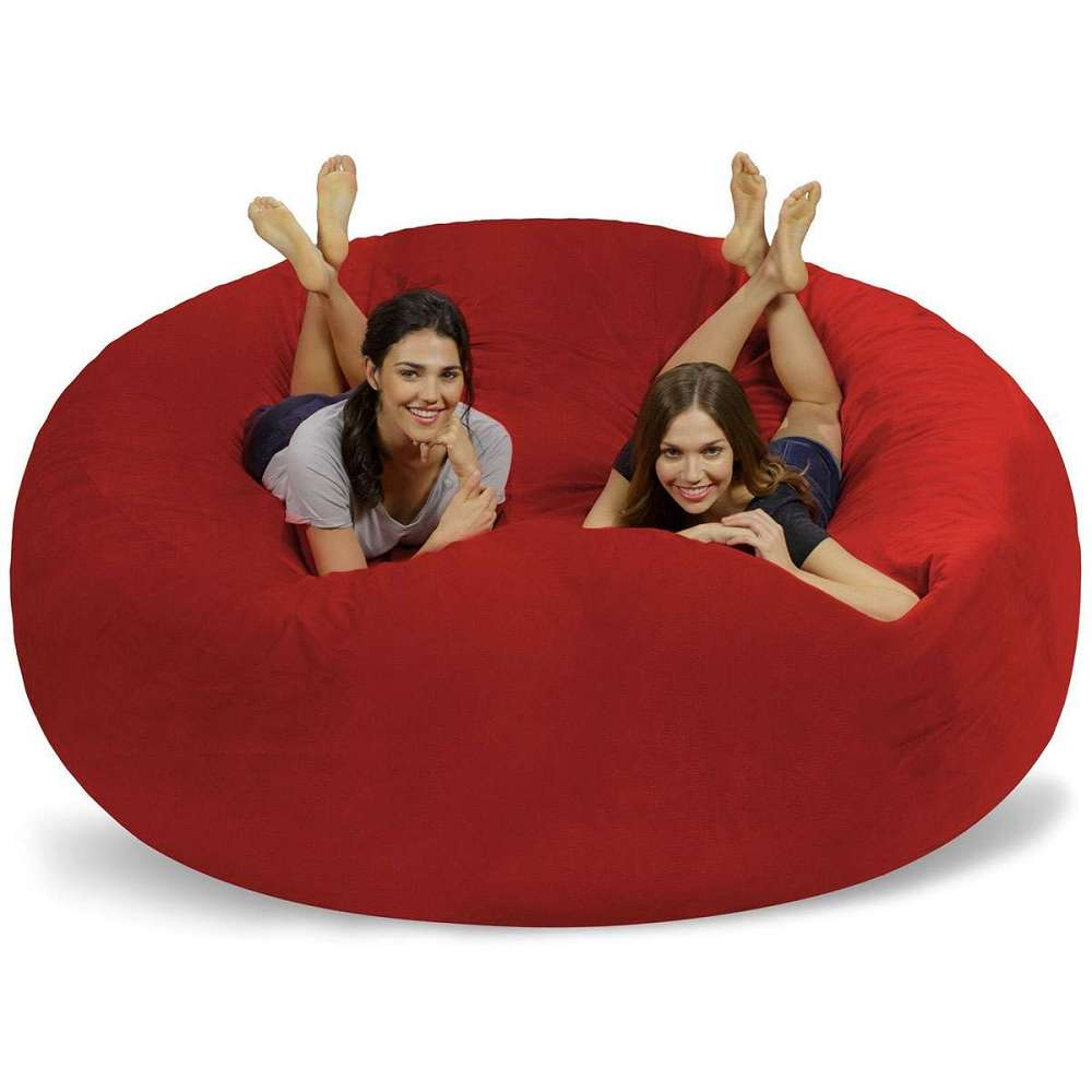 football bean bag chair recliner covers brisbane chill sack 8 foot dudeiwantthat