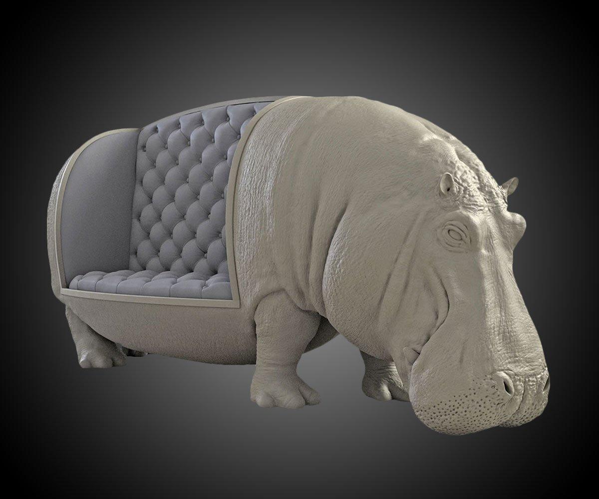 Hippopotamus Sofa  DudeIWantThatcom