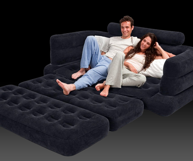 Inflatable PullOut Sofa  DudeIWantThatcom