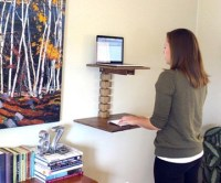 Wall-Mounted Standing Desk | DudeIWantThat.com