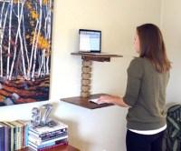 Wall-Mounted Standing Desk | DudeIWantThat.com