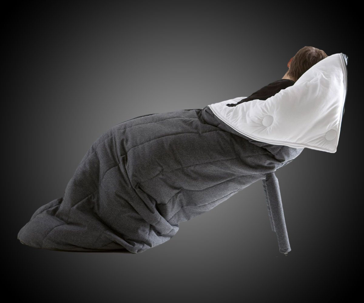 Sleeping Bag Chair  DudeIWantThatcom