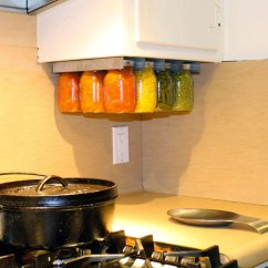 Cabinet For Kitchen Black Flooring Ideas Mason Jar Storage Racks | Dudeiwantthat.com