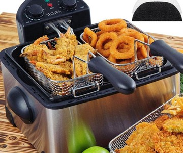 kitchener triple basket deep fryer compost bin for kitchen dudeiwantthat com