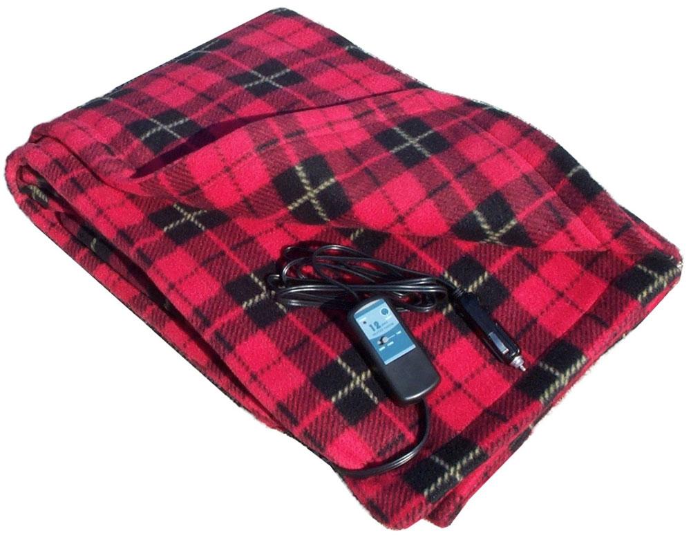 Electric Heated Fleece Travel Blanket  DudeIWantThatcom