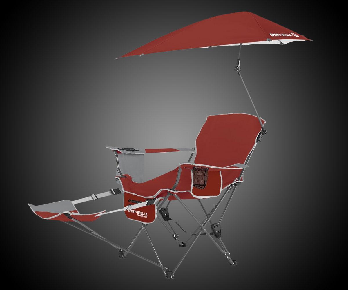 SportBrella Recliner Chair  DudeIWantThatcom
