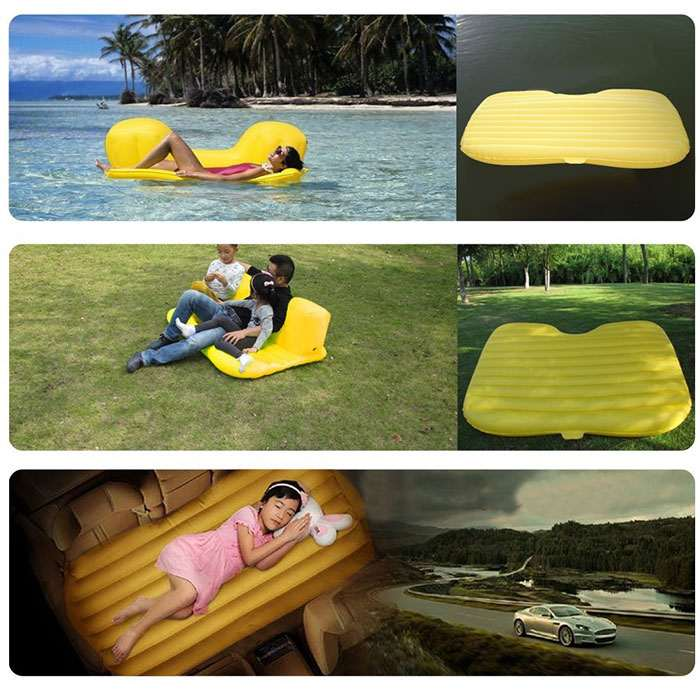Inflatable Back Seat Mattress  DudeIWantThatcom