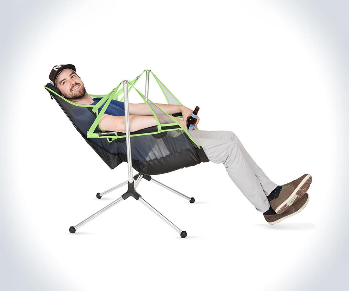 Stargaze Swinging  Reclining Camp Chair  DudeIWantThatcom