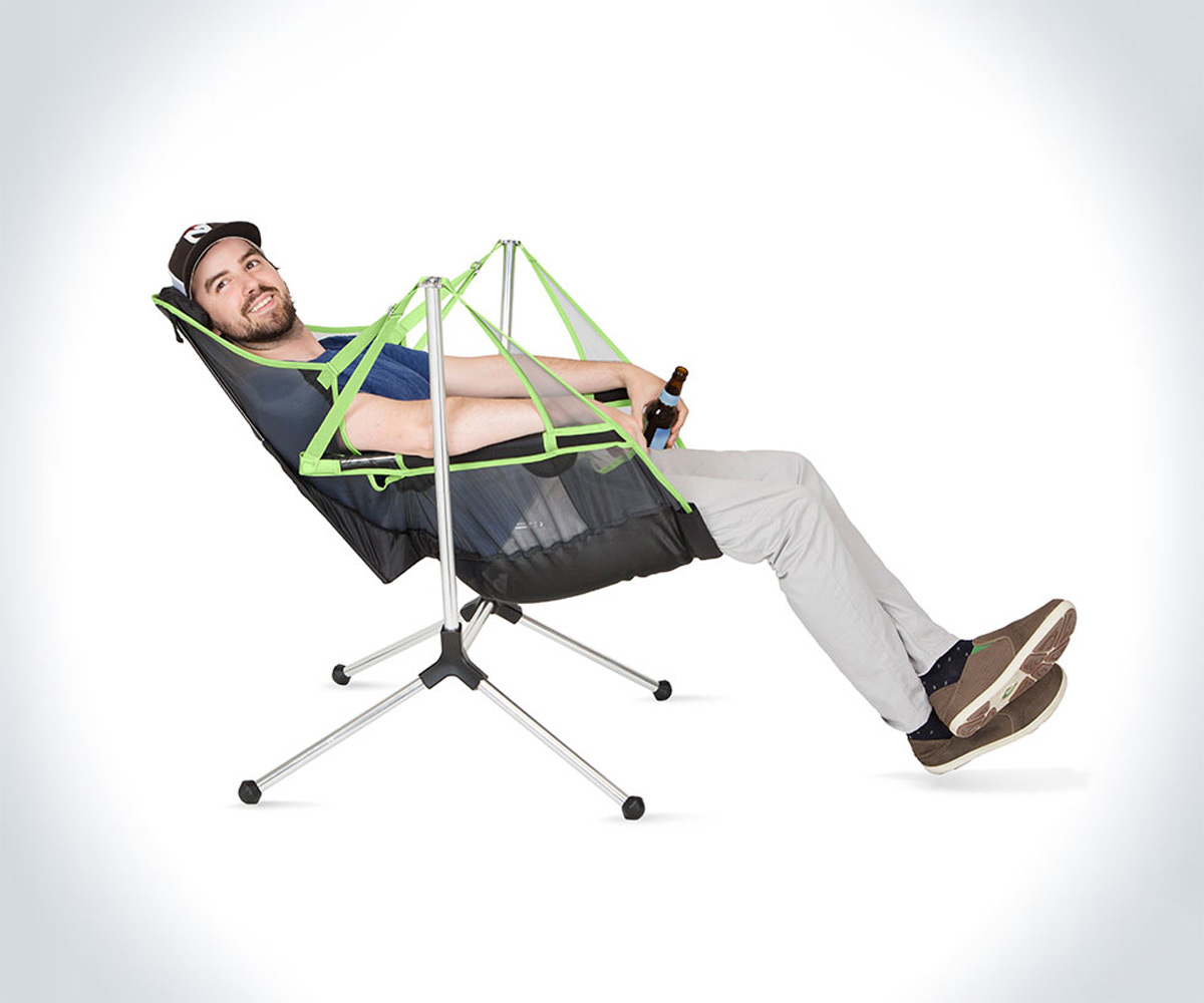 Reclining Camp Chair Stargaze Swinging And Reclining Camp Chair Dudeiwantthat