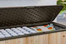 Suncast Wood & Resin Deck Box