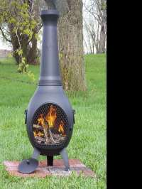 Wood Burning Chiminea Outdoor Fire Pit | DudeIWantThat.com