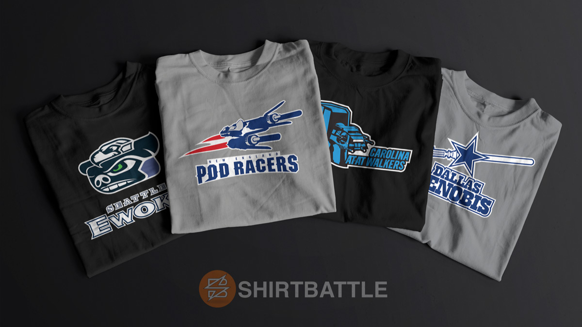 Shirt Battle NFLStar Wars Mashup TShirts  DudeIWantThatcom
