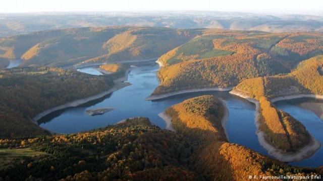 Luftbild der Naturpark Eifel