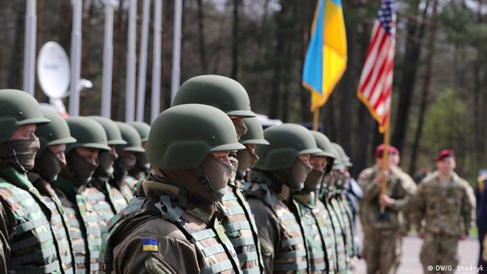 Українські та американські солдати на спільних навчаннях на Львівщині