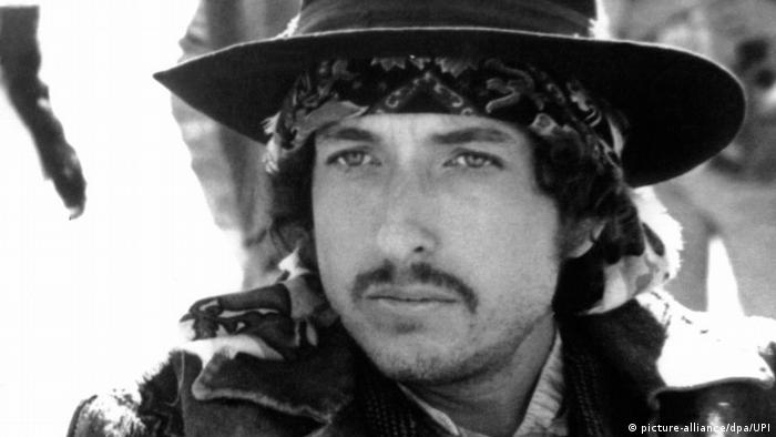 Bob Dylan in a black-and-white image from Pat Garrett and Billy the Kid.