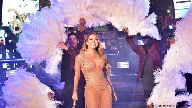 Mariah Carey Silvester 2016/ 2017 New York Times Square (Getty Images/E.Gologursky)