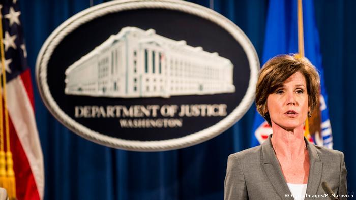 Ex-acting attorney general Sally Yates