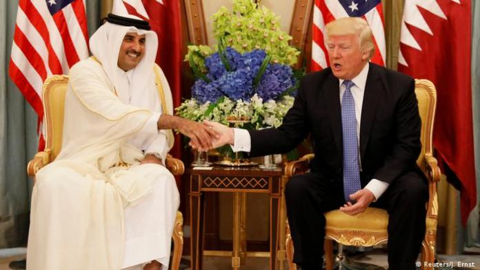 President Donald Trump and Sheikh Tamim bin Hamad