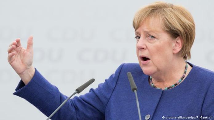 CDU election campaign with Angela Merkel