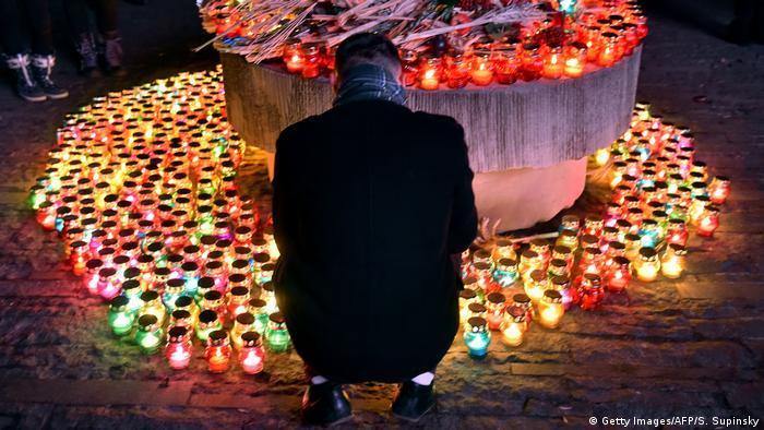 Під час вшанування пам'яті жертв Голодомору в Києві, 25 листопада 2017 року