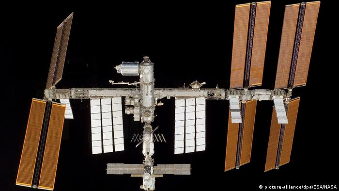 The International Space Station as seen from the spaceshuttle Atlantis (picture-alliance/dpa/ESA/NASA)