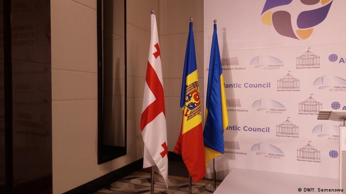 Прапори Грузії, Молдови та України