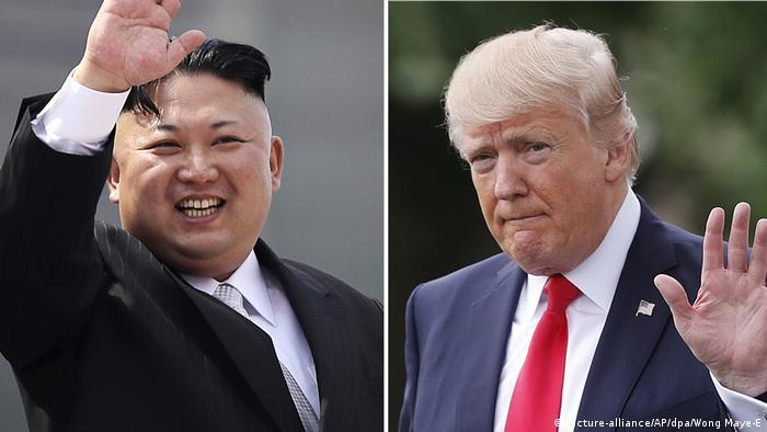 Kim Jong Un and Donald Trump (picture-alliance/AP/dpa/Wong Maye-E)