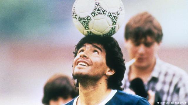 Diego Maradona in training