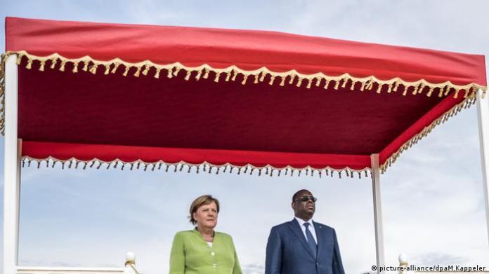 Chancellor Merkel with Senegalese President Macky Sall