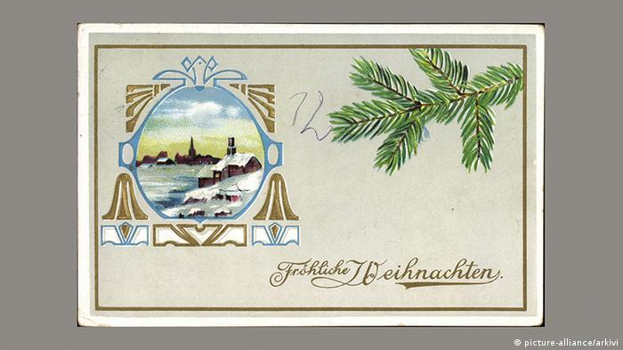 Рождественская почтовая открытка, 1911 год