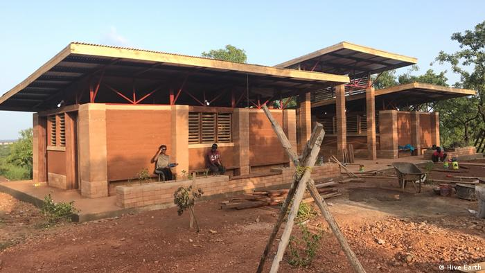 A new mud house in Ghana