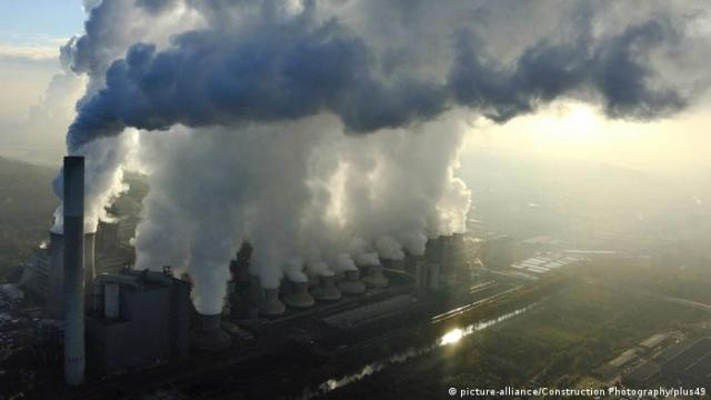 Gases stream out of a coal power station in Germany.