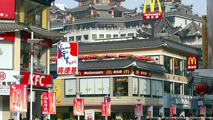 Filiales de McDonads y KFC en China