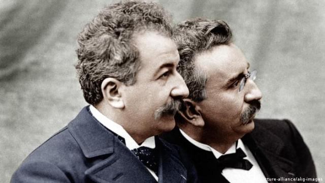 Auguste and Louis Lumiere in 1900