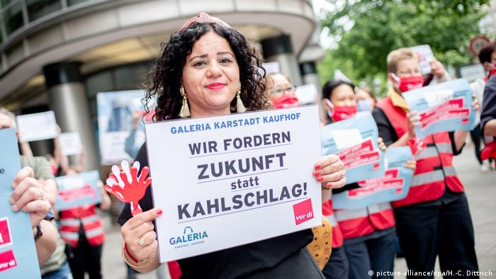 Протесты в Ганновере сотрудников концерна Galeria Karstadt Kaufhof