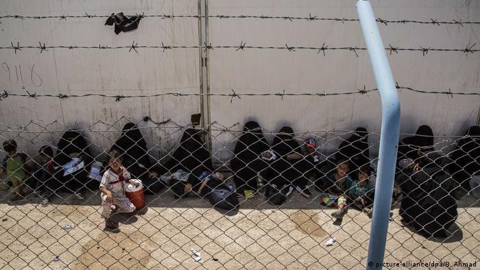 Nord Syrien Kinder im Camp Al-Hol Camp