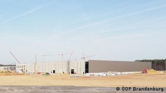 The costruction site for Tesla's new Gigafactory in Grünheide, near Berlin. Pictured in September 2020. (ÖDP Brandenburg)