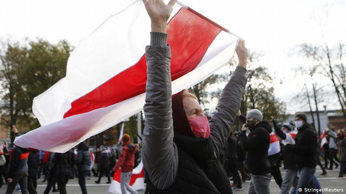 Протестувальники у Мінську, 18 жовтня
